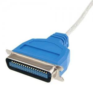 Een Parallel Port stekker. Gelukkig zijn deze gewoon vervangen door USB.