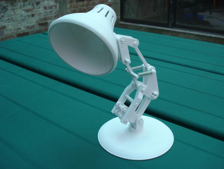 Een 3d geprinte lamp