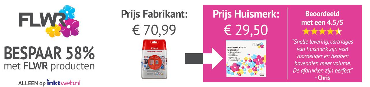 Bespaar geld met FLWR huismerk cartridges