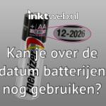 Kan je over de datum batterijen nog gebruiken?