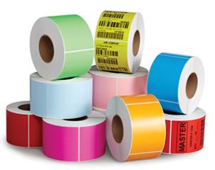 Gekleurde labels zijn goed te gebruiken in normale label-printers.