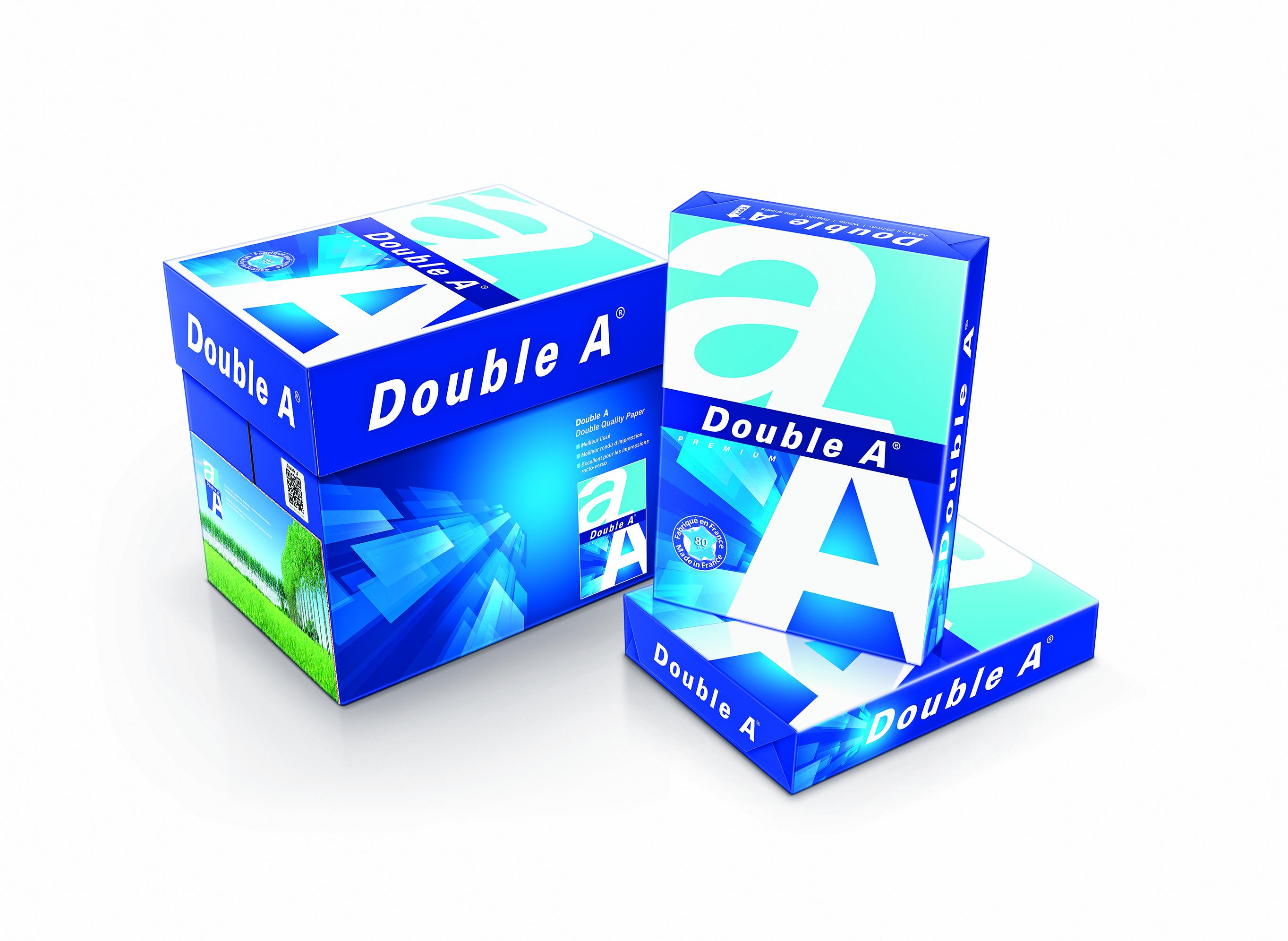 Papier van Double A: Nieuwe verpakking