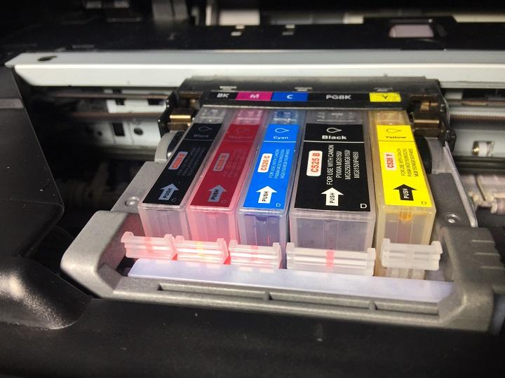 geel niet gelijk met andere cartridges