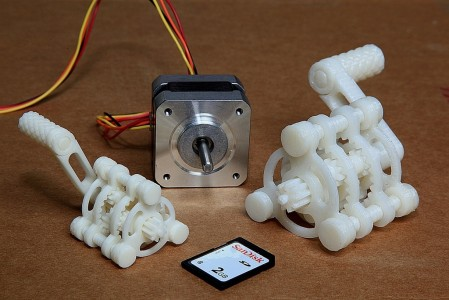 Versnellingen 3D geprint
