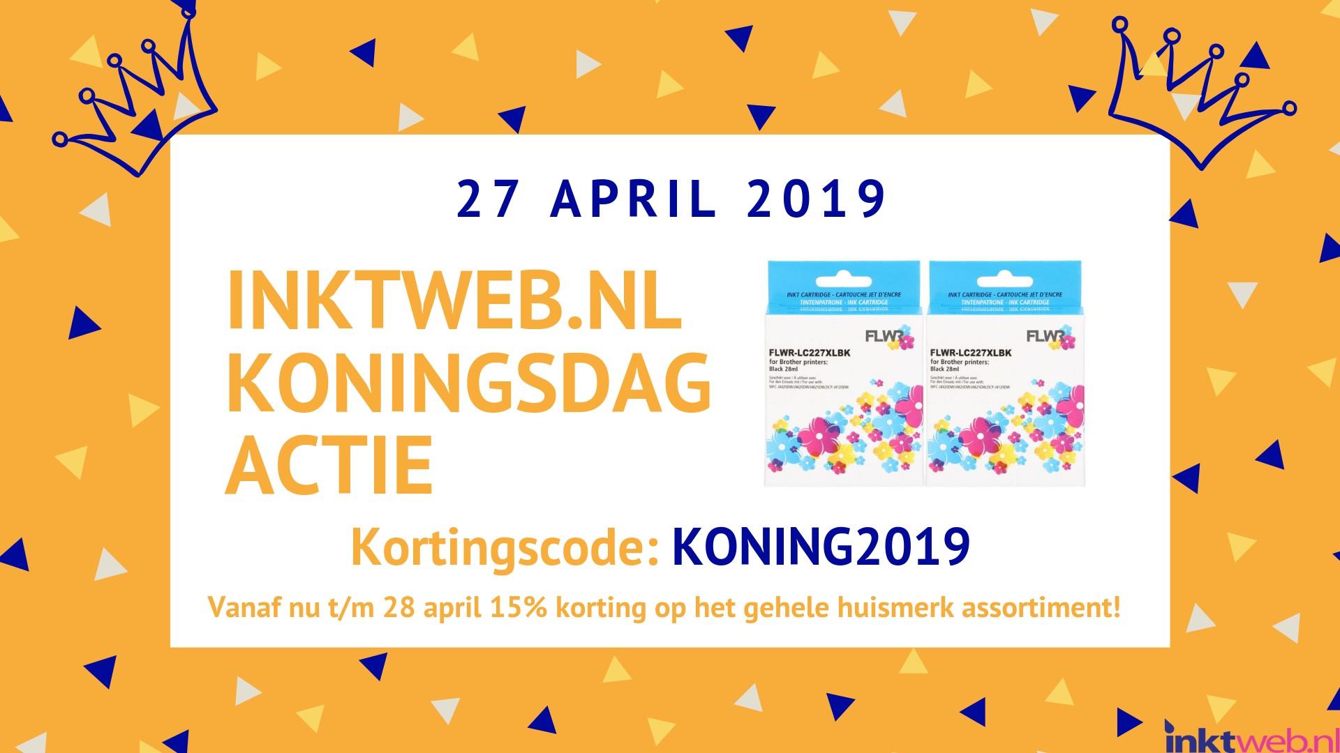 Inktweb.nl Koningsdag actie