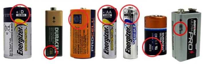 Afbeelding van Datum op batterijen