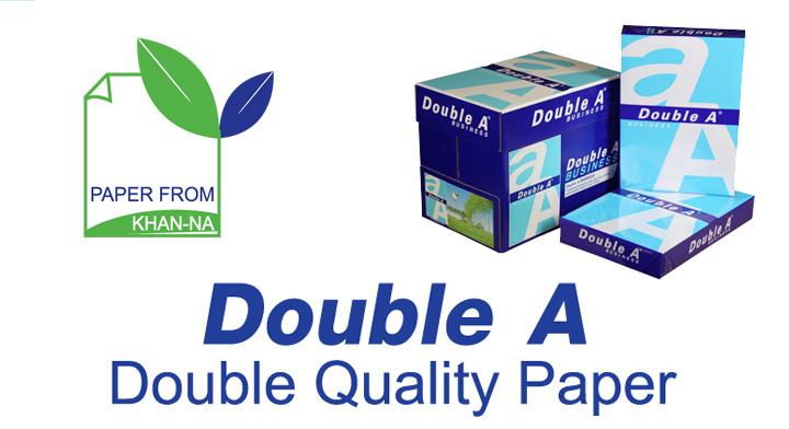 nieuw double a business papier double a kwaliteit lagere prijs. Black Bedroom Furniture Sets. Home Design Ideas