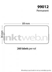 Dymo 99012 Adreslabel breed wit, ideaal voor het printen van je labels!