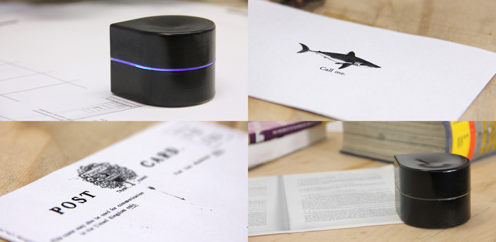 Positioneer de printer op het papier en deze zal naar de juiste locatie toe bewegen om te printen.