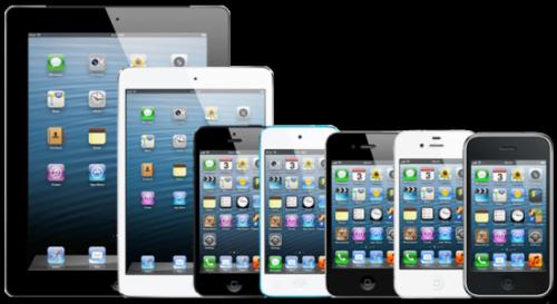 De hele reeks iPads, iPods en iPhones.