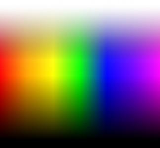 De miljoenen verschillende kleurcombinaties die mogelijk zijn.