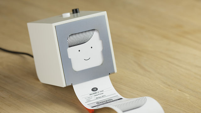 De Little Printer is een minuscule thermische printer