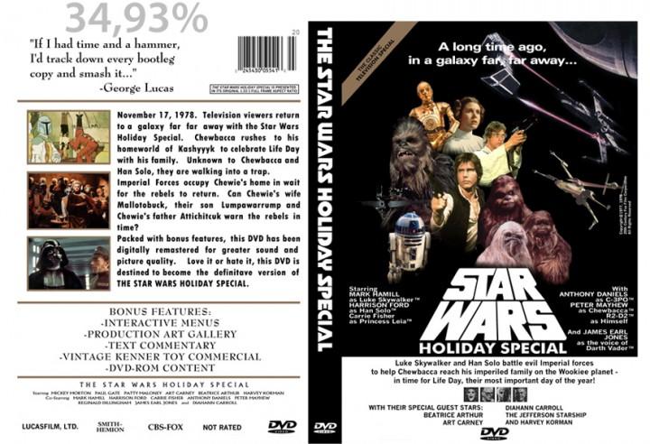 Deze fancover van Star Wars Holiday Special heeft een pagina dekking van 34,93%  - dat is 6,99 pagina's op 5%.