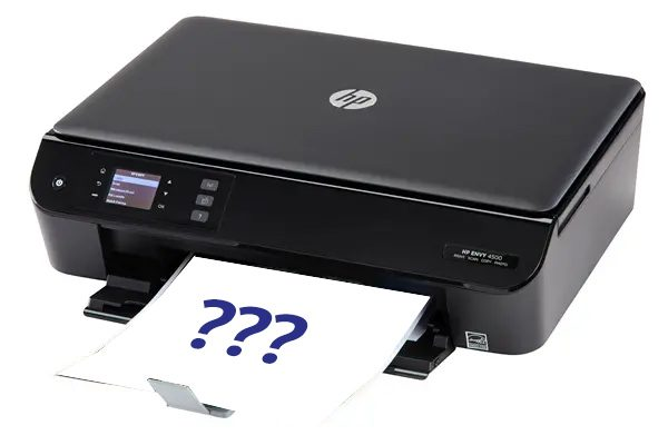 Error printer kent cartridge niet