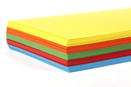 Leeg kleurpapier