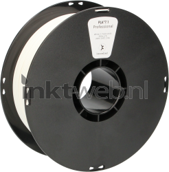 Huismerk White label 1,75mm PLA Wit, 1kg wit