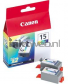 Canon BCI-15C duo pack kleur product and front view box