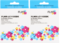 FLWR Brother LC-1100BK 2-pack zwart