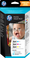HP 364 Value pack kleur high-res transparant
