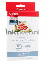 Canon KC-18IF cartridge en stickers kleur 7741A001