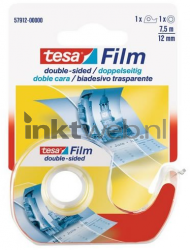 Tesa Plakband Film 7,5m x 12mm 2-zijdig + dispencer 57912-00000-00