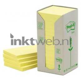 3M Post-it 76x76mm recycled 16-pack geel Post-it-654-T