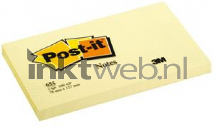 3M Post-it 76x127mm geel Post-it-655