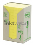 Post-it 38x51mm recycled 24-pack geel