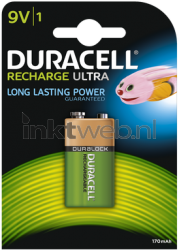 Duracell 9V Rechargeable HR22, 170 mAh DC1604