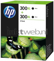 HP 300XL 2-pack zwart