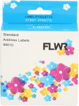 FLWR Dymo  99010 260 labels per rol 28 mm x 89 mm wit