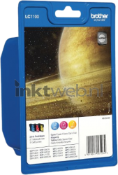 Brother LC-1100 Multipack kleur LC1100RBWBP