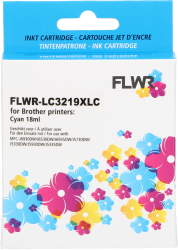 FLWR Brother LC3219XLC cyaan CO-LC3219XLC