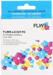 FLWR Brother LC-3217C cyaan FLWR-LC3217C