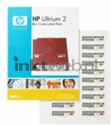 HP HPE LTO Ultrium 2 barcode labels Q2002A