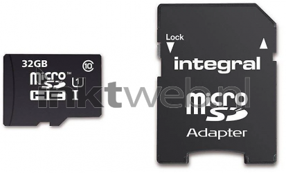Integral UltimaPro 32GB, Micro SDHC Geheugenkaart zwart INMSDH32G10-90U1