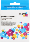 FLWR Brother LC-970C / LC-1000C cyaan
