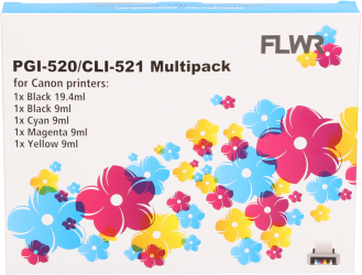 FLWR Canon CLI-521 compatible multipack CMYKP FLWR-CLI-521MP