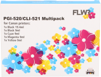 CLI-521 compatible multipack CMYKP