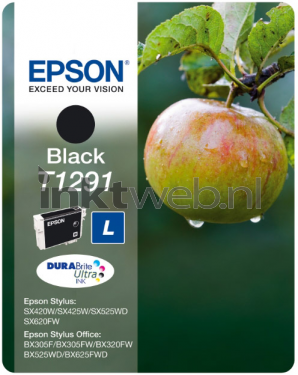 epson t1291 zwart origineel hoge capaciteit. Black Bedroom Furniture Sets. Home Design Ideas