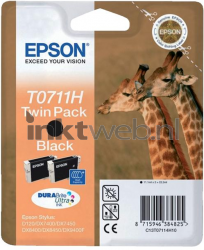 Epson T0711H twin pack zwart