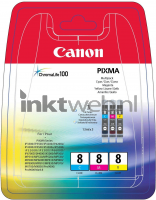 Canon CLI-8 Color pack kleur