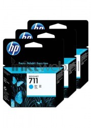 HP 711 3-pack cyaan
