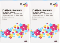 FLWR Brother LC-1240XL Multipack (2 sets) zwart en kleur