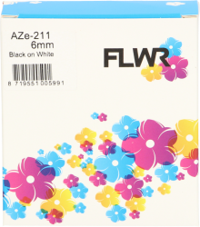 FLWR Brother TZE-211 zwart FLWR-PT-F211