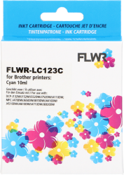 FLWR Brother LC-123 cyaan FLWR-LC123C