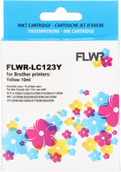 FLWR Brother LC-123 geel FLWR-LC123Y