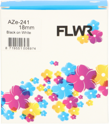 FLWR Brother TZE-241 zwart FLWR-PT-F241