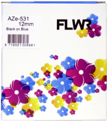 FLWR Brother TZE-531 zwart FLWR-PT-F531