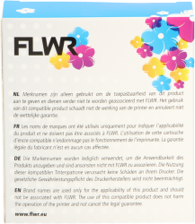FLWR Brother TZE-641 zwart FLWR-PT-F641
